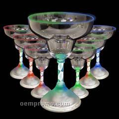 9 Oz. Assorted LED Light Up Margarita Glass With Spiral Base
