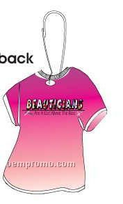 Beautician Slogan T-shirt Zipper Pull