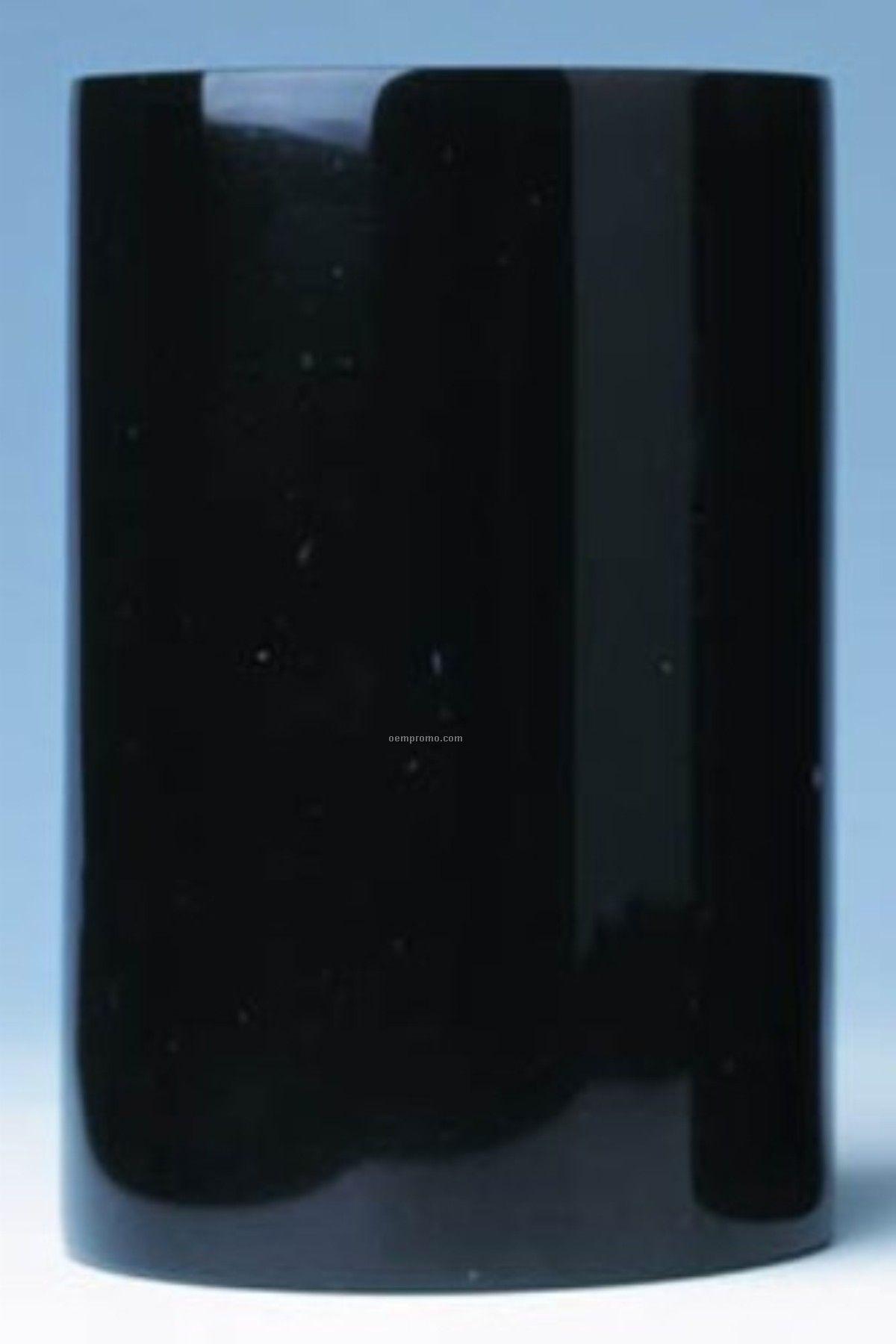 Black Marble Wine Cooler- Laser Engraved With Color Fill