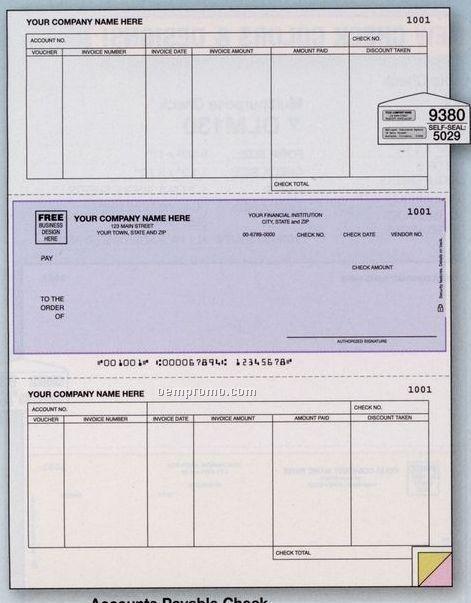 Laser Accounts Payable Check (3 Part)