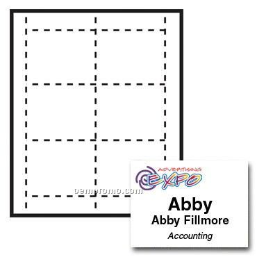 "Quick Snap Name Tag Paper Insert - Full Color (4""X3"")"