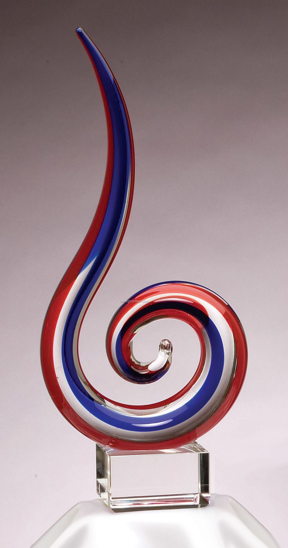 Red And Blue Rising Sculpture / Award