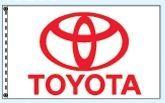 Standard Double Face Dealer Logo Spacewalker Flag (Toyota)