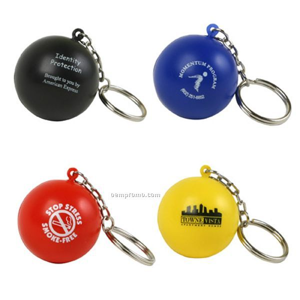 Stress Ball Key Chain Squeeze Toy