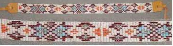 """14""""X11 Bead Width Headband W/ Leather Ends & Ties - 3 Assorted Colors"""