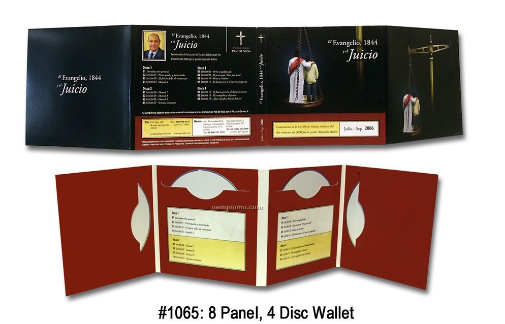 Cd-dvd 8-panel 4-disc Wallet