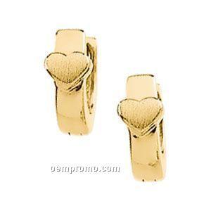 Ladies' 14ky 9x9-1/4 Hinged Earring Heart