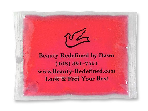 """Pink Stay - Soft Gel Pack With Black, Blue Or Red Surface Imprint (4""""X6"""")"""