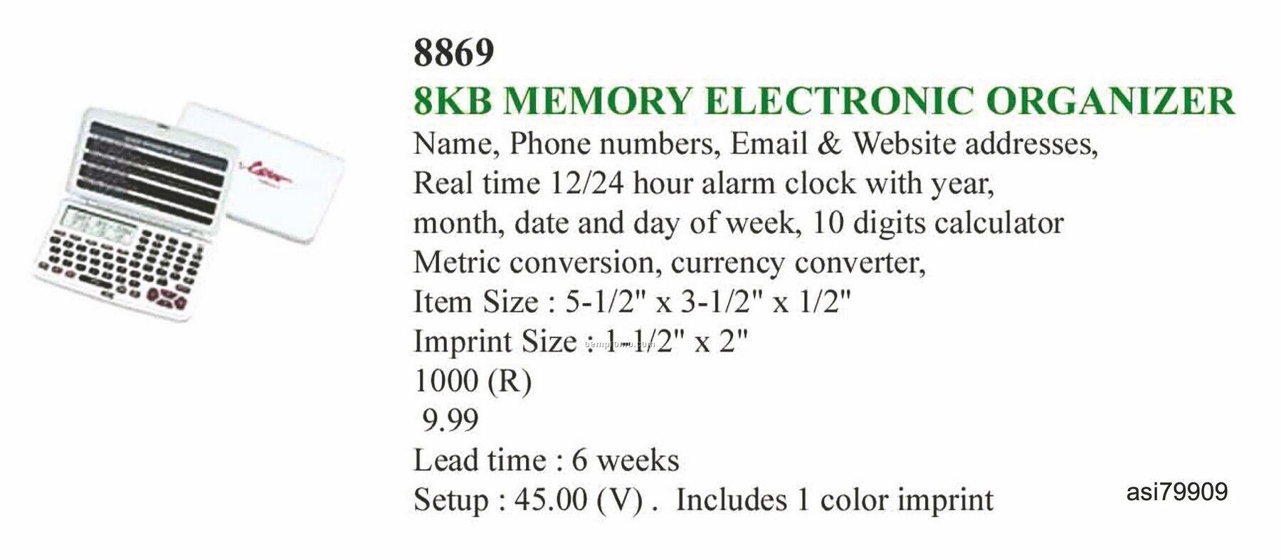 Promotekinc 8k Memory Electronic Organizer With Internet Directory