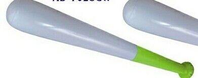 "28"" White / Lime Green Inflatable Baseball Bat"