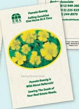 "Marigold ""Lemon Drop"" Postcard Size Seed Packet (1 Color)"