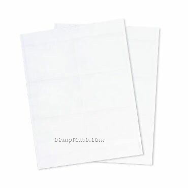 """Recycled Name Tag Paper Insert - Blank (4""""X3"""")"""