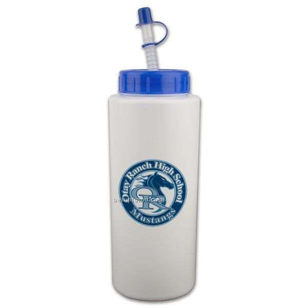 32 Oz. Sport Bottle W/ Straw Tip Lid