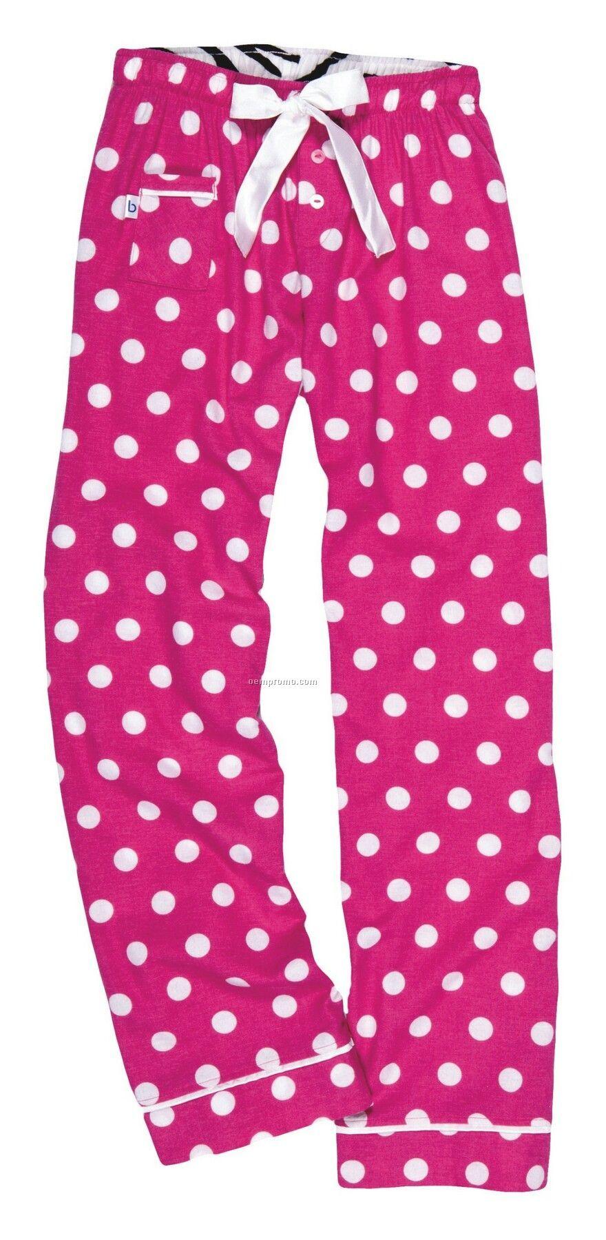 Adult Hot Spot Fuchsia V.i.p. Flannel Pants