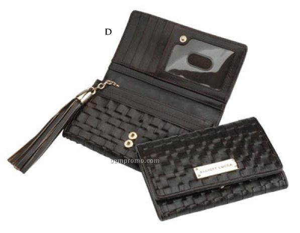Elliott Lucca Intreccio Indexer Woven Leather Wallet
