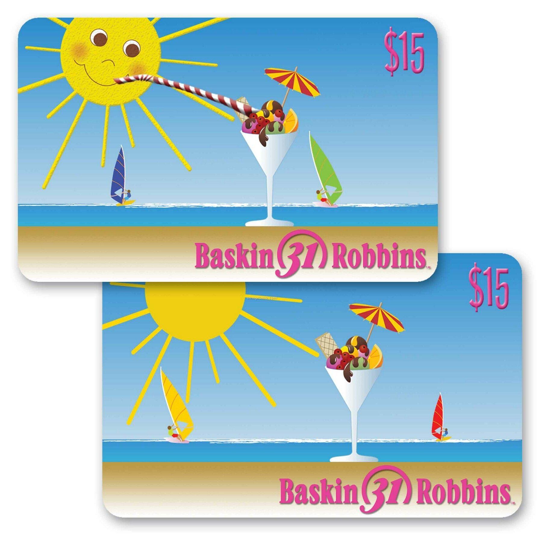 3d Lenticular Gift Card W/Sun And Sundae Animation (Imprinted)