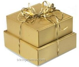 "Burnished Gold Specialty Corrugated Packaging (8""X8""X3"")"