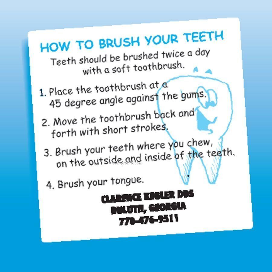 Health & Safety - Laminated Brush Teeth Magnet