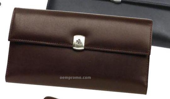Lauren Ralph Lauren Checkbook Secretary Leather Cover