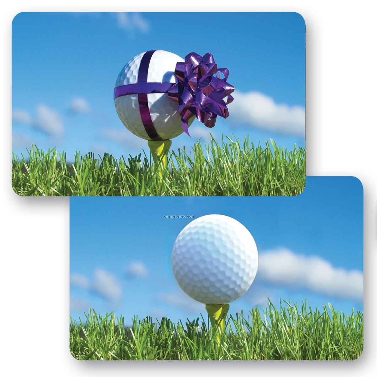 3d Lenticular Gift Card Wanimated Golf Ball Images Blankschina
