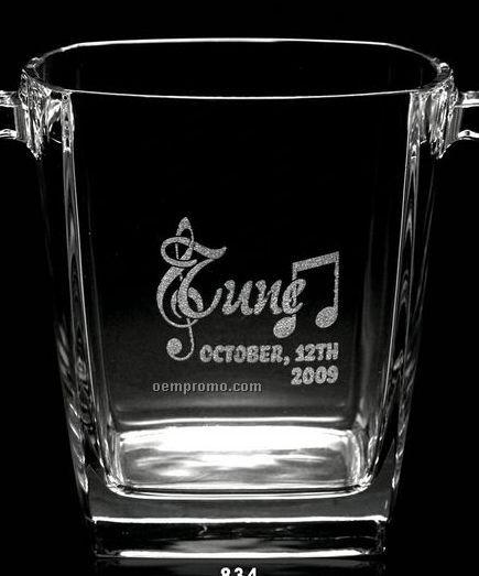 """5 5/8"""" Glass Ice Bucket"""