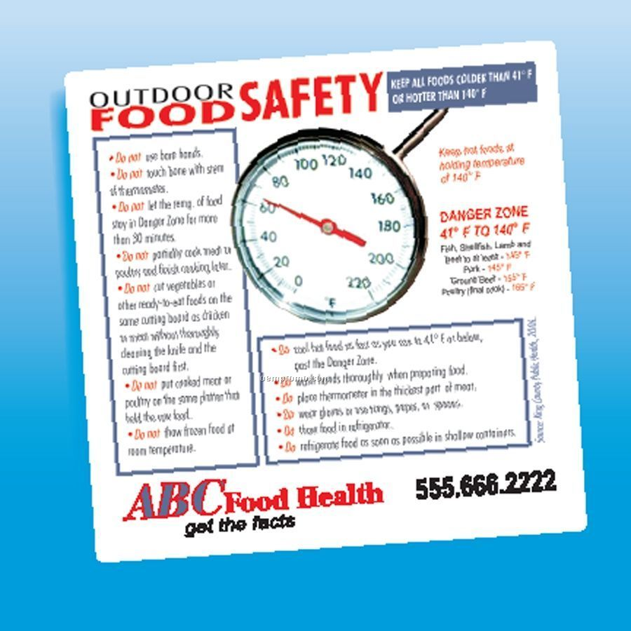 Health & Safety - Laminated Pool Safety Magnet