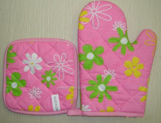 Kitchen Sets With Oven Glove And Mat