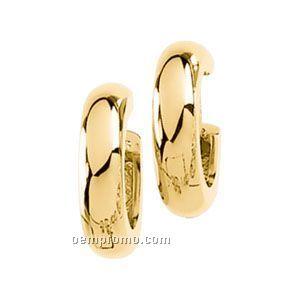 Ladies' 14ky 14-1/4mm Hinged Earring