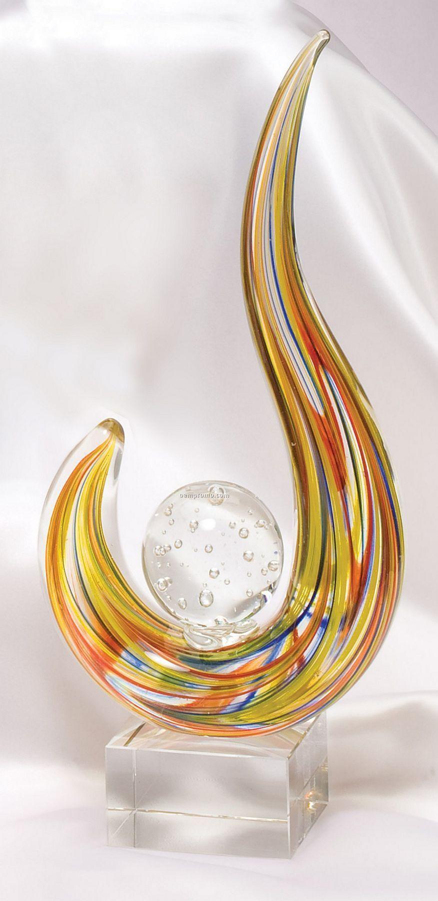 Multi-color Flame Sculpture / Award