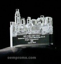 Acrylic Paperweight Up To 12 Square Inches / New York City