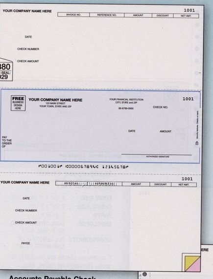 Laser Accounts Payable Check - Daceasy Compatible (3 Part)