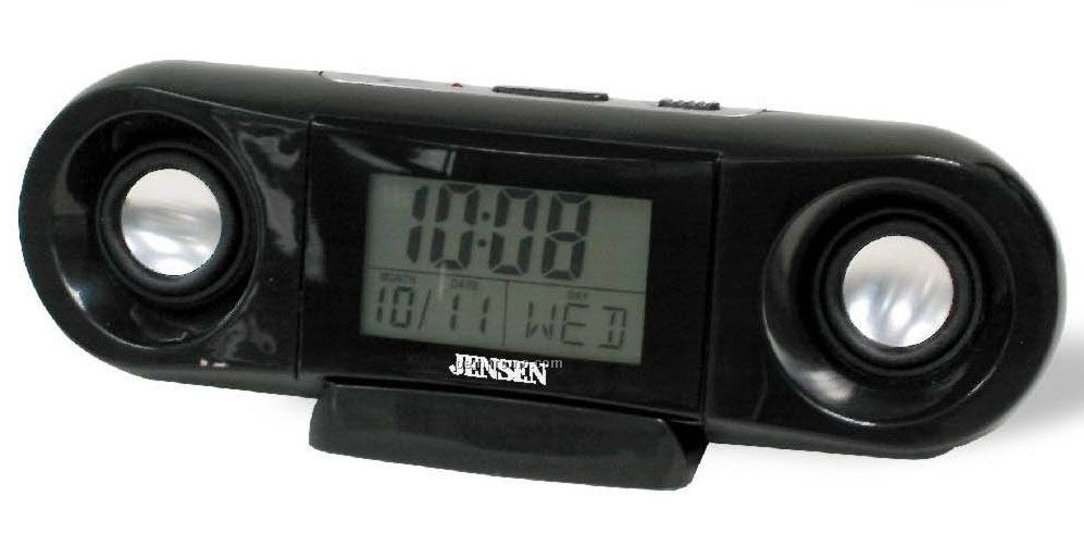 Portable Speaker Clock W/ Temperature Display