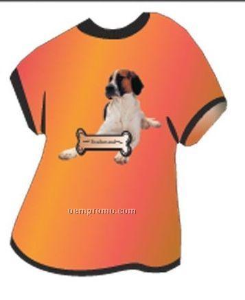 Foxhound Dog T Shirt Acrylic Coaster W/ Felt Back