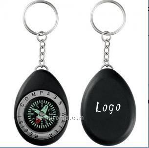 Waterproof Compass Keychain