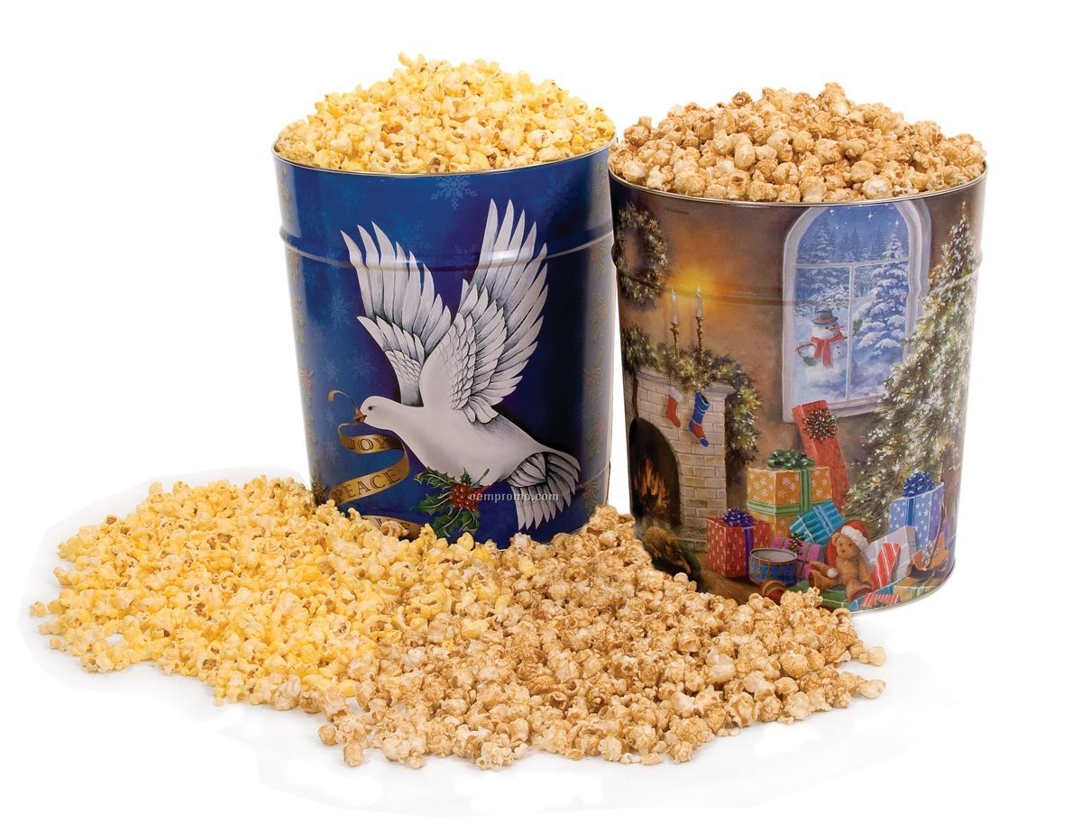 3 1/2 Gallon White Cheddar Popcorn Tin