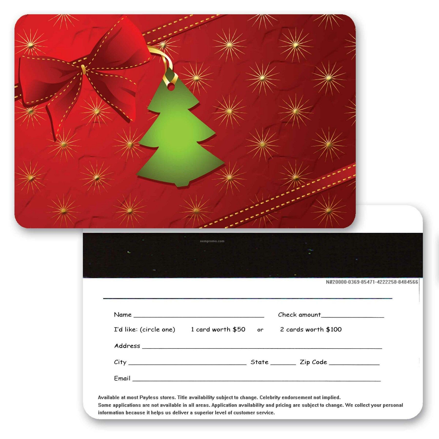 3d Lenticular Gift Card W/Christmas Decorations Images (Blanks)