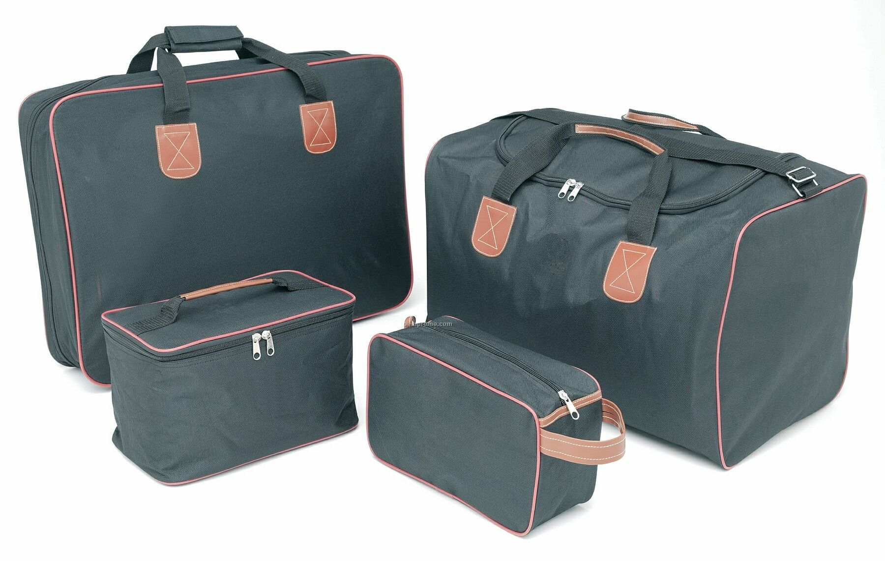 4-piece Luggage Set - Embroidered