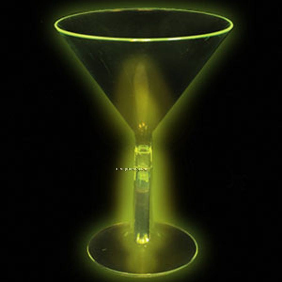 8 Oz. Green Glow Martini Glass