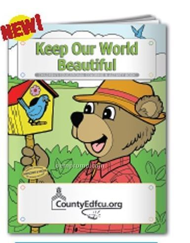 Coloring Book - Keep Our World Beautiful W/ Bosley Bear