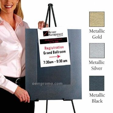 "Slip In Sign Holder 10 Pack In Metallic Colors- Blank (16""X20"")"