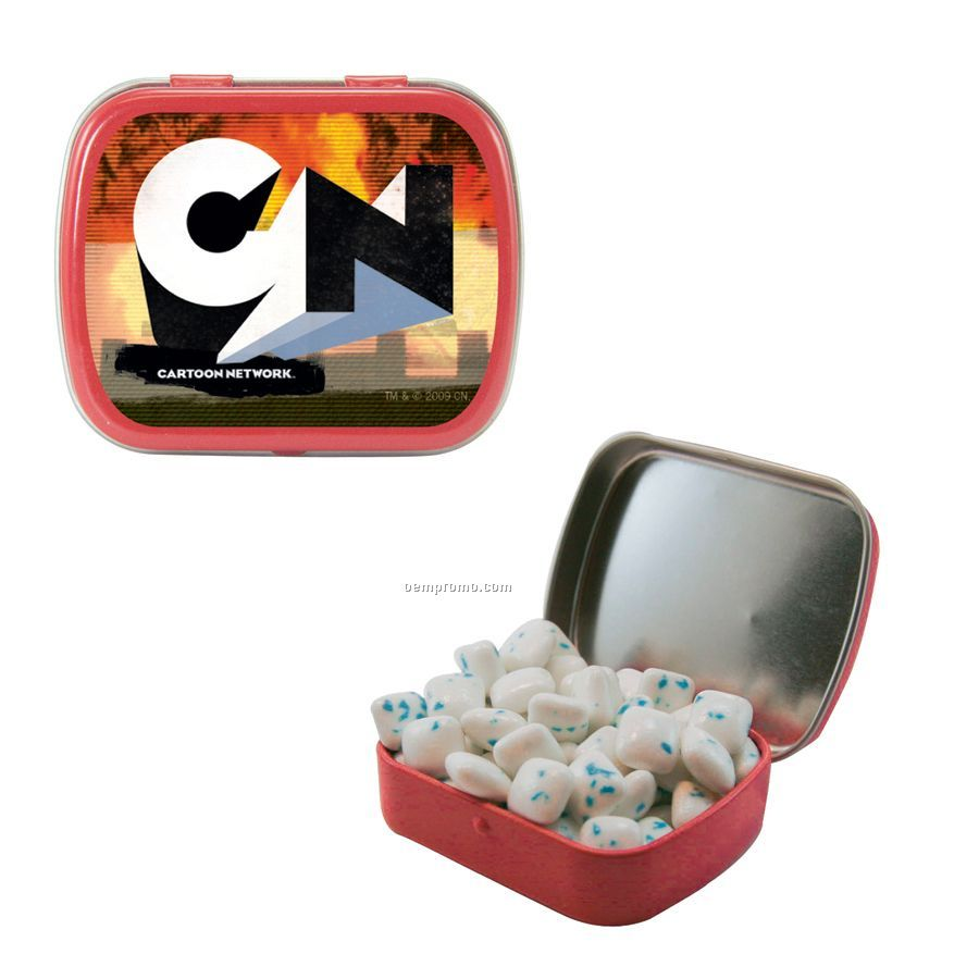 Small Red Mint Tin Filled With Sugar Free Gum