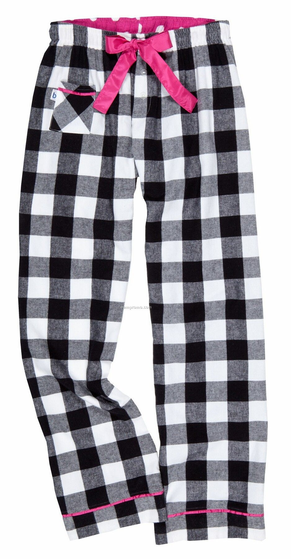 Adult Right On White V.i.p. Flannel Pants