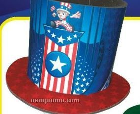 Foam Full Color Patriotic Top Hat