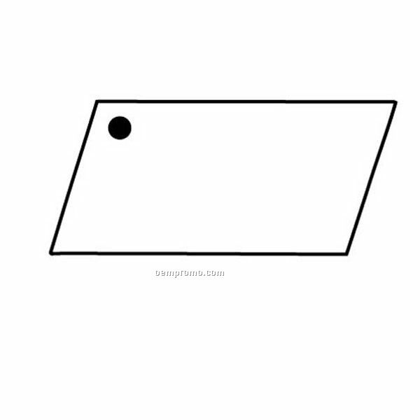 Stock Shape Collection Parallelogram 4 Key Tag