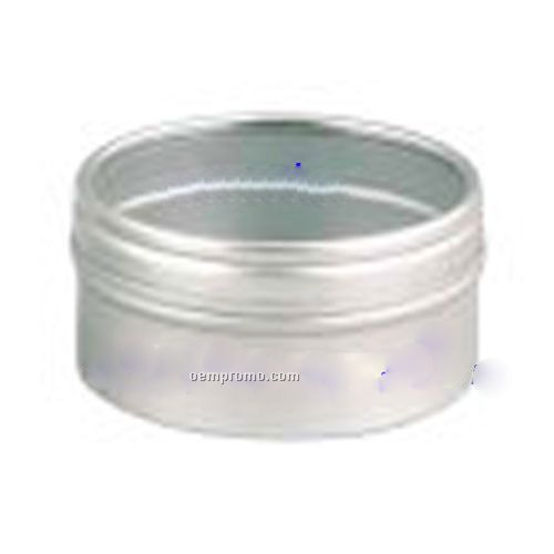 Tin Container W/Clear Top