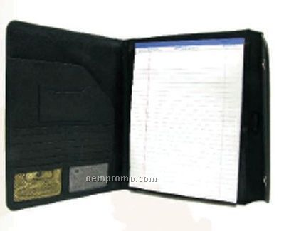 Tri Fold Black Leatherette Writing Case & Note Pad