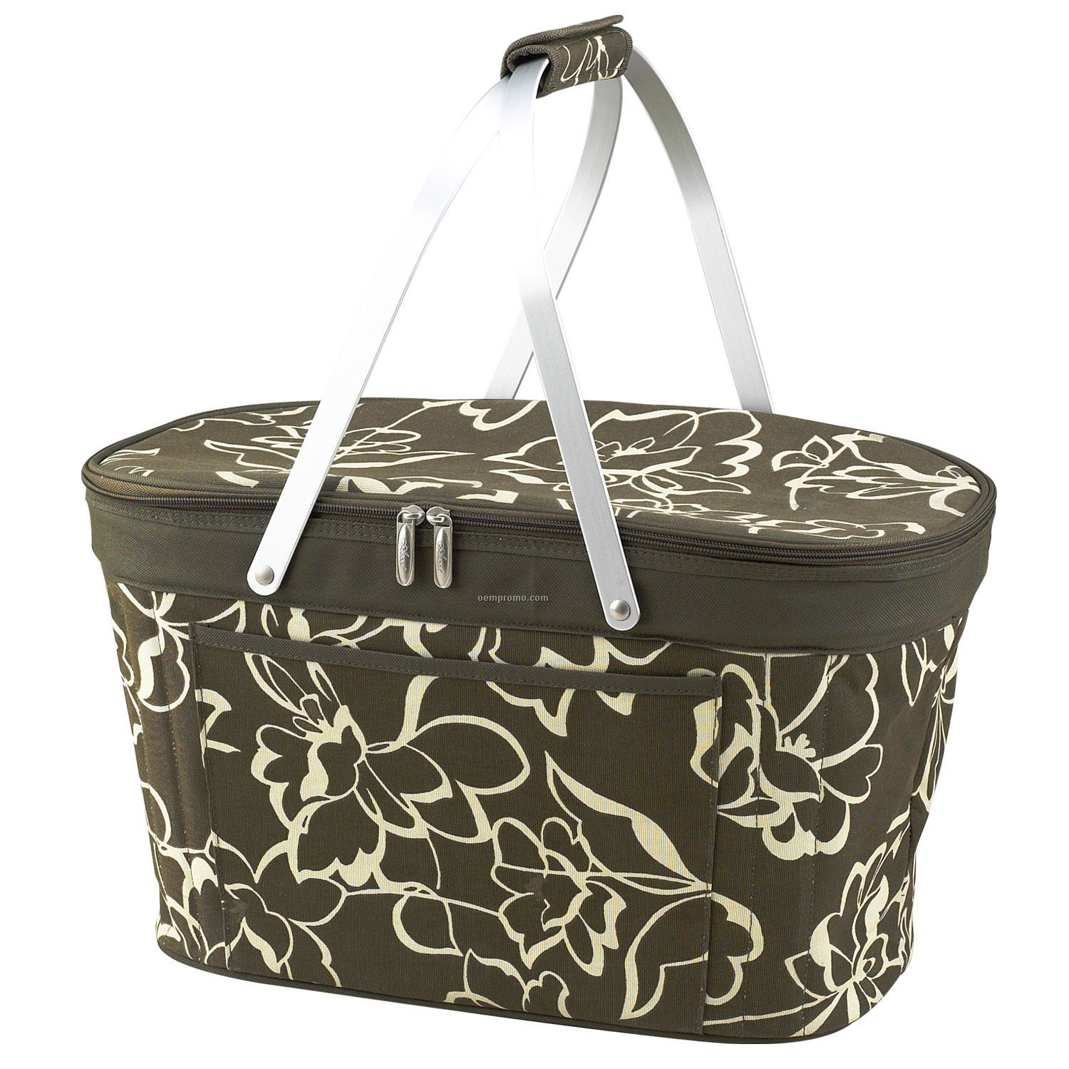 Collapsible Insulated Picnic Basket For 4 : Hamptons picnic basket cooler tote bag for two china