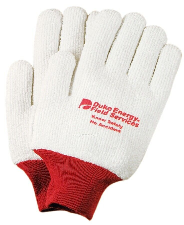 Men's 28 Oz. Seamless Knit Reversible Freezer Gloves (Large)