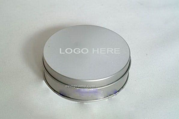Round Tin Container W/Lid