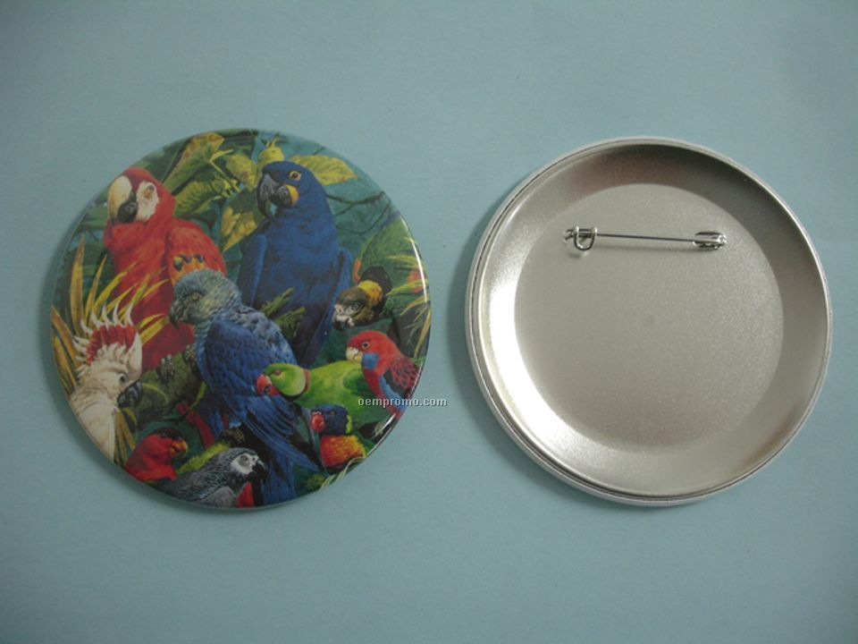 """2-1/4"""" Celluloid Buttons With Safety Pin Attachment"""